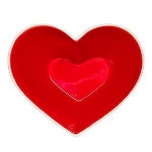 Sagaform Heart Sweetheart Kulho Punainen / Valkoinen
