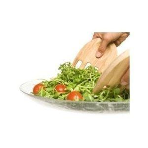 Sagaform Oval Oak Kämmenen malliset salaatinottimet