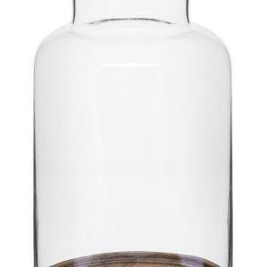 Sagaform Oval Oak Kynttilälyhty Puu 33 Cm