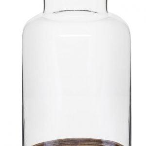 Sagaform Oval Oak Kynttilälyhty Puu 36 Cm