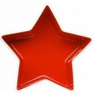 Sagaform Tähtikulho puna-valkoinen