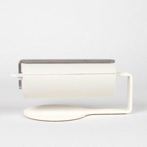 Scandinavian Design Factory Curve Talouspaperinpidike Valkoinen / Teräs