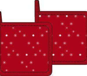 Scandinavian Home Pannulaput 2-pack 20x20 cm punainen