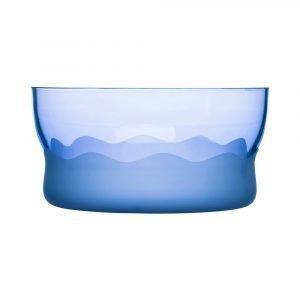 Sea Glasbruk Aqua Wave Tarjoilukulho Sininen