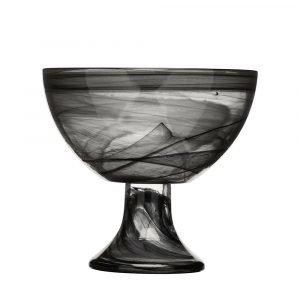 Sea Glasbruk Black & White Jalallinen Kulho Musta