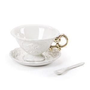 Seletti I Tea Teekuppi Valkoinen / Kulta