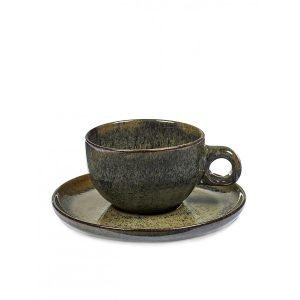 Serax Surface Cappuccino Kuppi Ja Lautanen Indi Grey