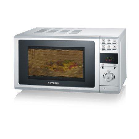Severin MW 7854 Mikro Grillillä ja LCD-Display Hopea