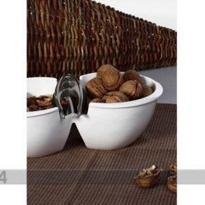 Sg Keraaminen Pähkinäkulho Ja Pihdit
