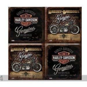Sg Retro Lasinalusta Harley-Davison Genuine 4 Kpl