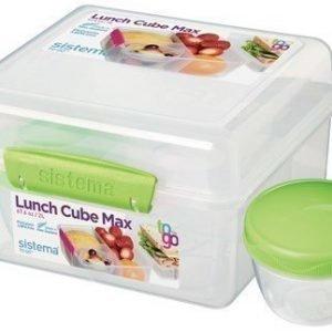 Sistema 2L Lunch Cube MaxTo Go with Yogurt Pot
