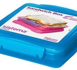Sistema Lunch 2016 450ml Sandwich Box Coloured