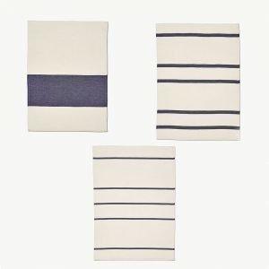 Skagerak Stripes Keittiöpyyhe Valkoinen / Tummansininen