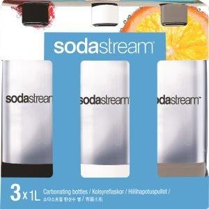 Sodastream Pet Pullo Muovi 1 L 3 Kpl