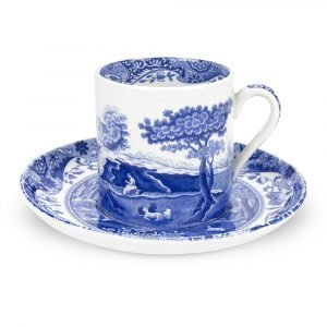 Spode Blue Italian Kahvikuppi Ja Aluslautanen 90 Ml