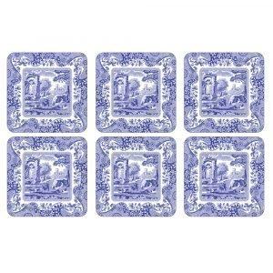 Spode Blue Italian Lasinalunen 105x105 Mm 6 Kpl