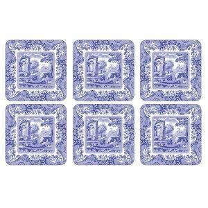 Spode Blue Italian Lasinalunen 10x10 Cm 6 Kpl