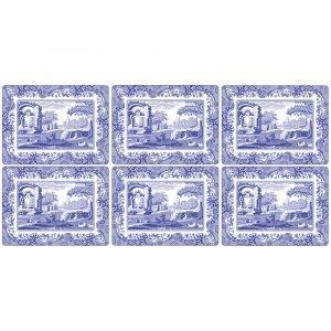 Spode Blue Italian Pöytätabletti 305x230 Mm 6 Kpl