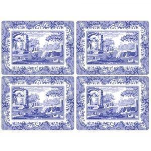 Spode Blue Italian Pöytätabletti 401x290 Mm 4 Kpl