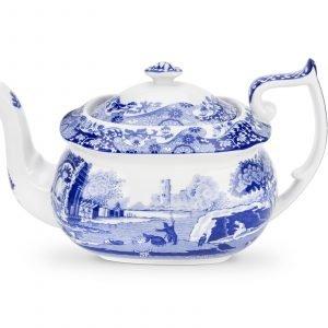 Spode Blue Italian Teekannu Posliini 1.1 L