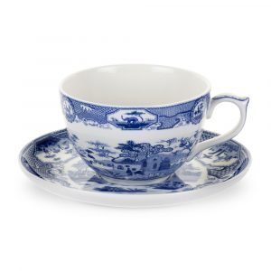 Spode Blue Room Jumbokuppi Ja Aluslautanen Gotic Castle 560 Ml