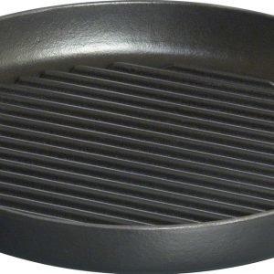 Staub Grils & Poêles Pure Grillipannu Pyöreä Valurauta Musta 26 Cm