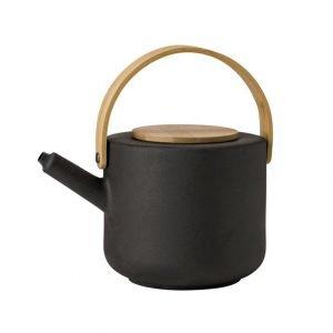 Stelton Theo Teekannu Musta 1.25 L