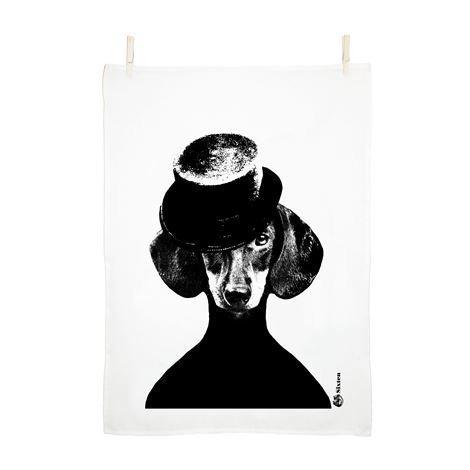 Studio Lisa Bengtsson Tillsammans Keittiöpyyhe Kuusitoista Musta