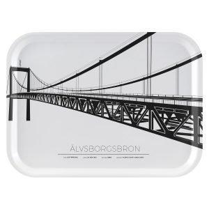 Sverigemotiv Älvsborgsbron Göteborg Tarjotin 27x20 Cm