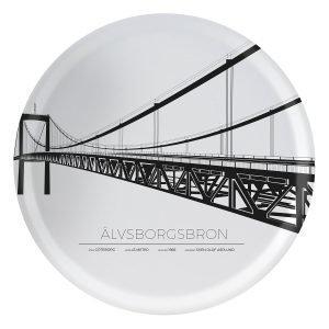 Sverigemotiv Älvsborgsbron Göteborg Tarjotin 38 Cm
