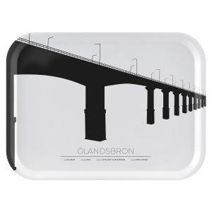 Sverigemotiv Ölandsbron Kalmar / Öland Tarjotin 27x20 Cm