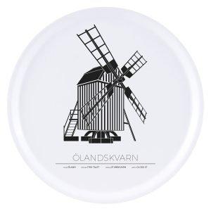 Sverigemotiv Ölandskvarn Öland Tarjotin 38 Cm