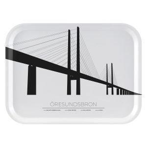 Sverigemotiv Öresundsbron Malmö / Köpenhamn Tarjotin 27x20 Cm