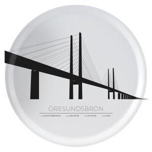 Sverigemotiv Öresundsbron Malmö / Köpenhamn Tarjotin 38 Cm