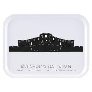 Sverigemotiv Borgholm Slottsruin Tarjotin 27x20 Cm
