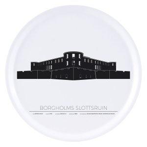 Sverigemotiv Borgholm Slottsruin Tarjotin 38 Cm