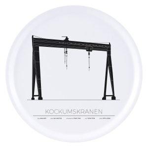Sverigemotiv Kockumskranen Malmö Tarjotin 38 Cm