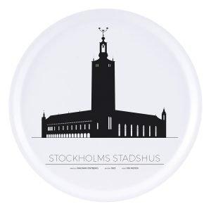 Sverigemotiv Stockholm Stadshus Tarjotin 38 Cm