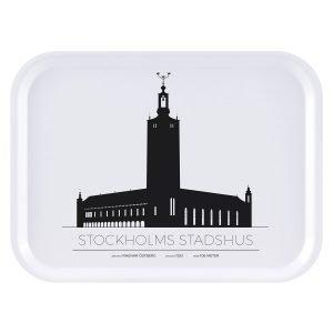Sverigemotiv Stockholms Stadshus Tarjotin 27x20 Cm