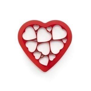 Sydänpalapeli keksimuotti