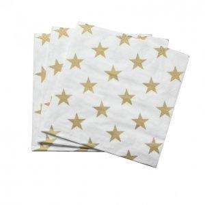 Tähdet Lautasliina Valkoinen 33cm