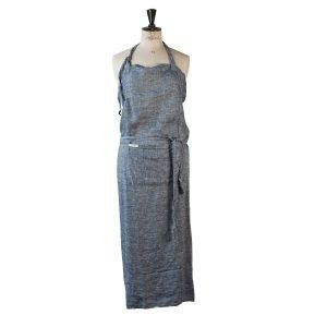 Tell Me More Washed Linen Esiliina Denim Blue