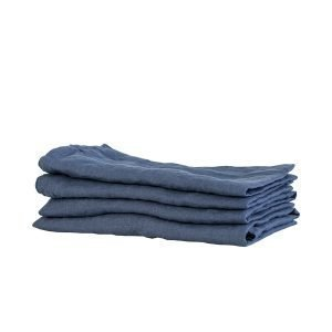 Tell Me More Washed Linen Keittiöpyyhe Navy Blue