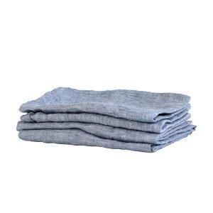 Tell Me More Washed Linen Servetti Woven Light Blue