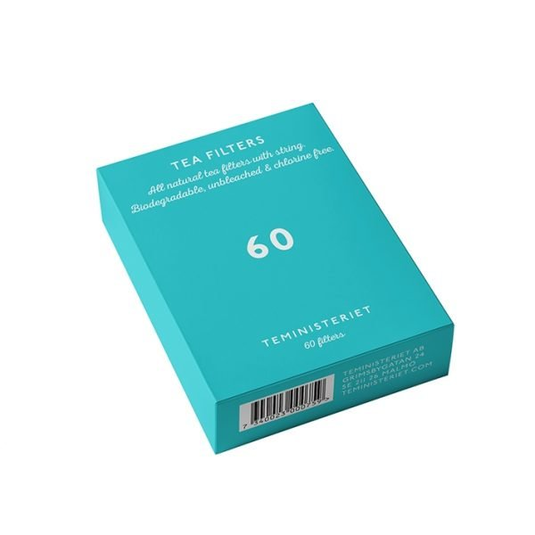 Teministeriet Teepussi Valkaisematon Paperi 60 Kpl
