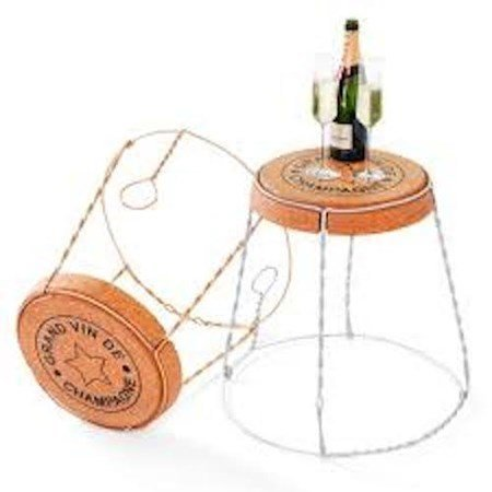 The Wine Journal XL Cage Sidetable hopea- hopeajalkainen taso