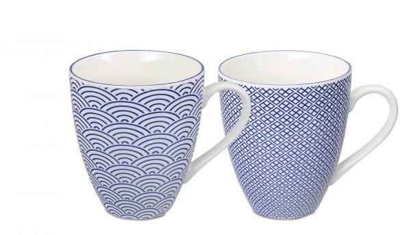 Tokyo Design Studio Mukit Sininen Valkoinen 2 Kpl