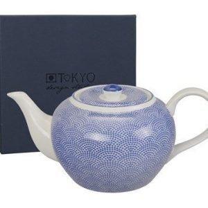 Tokyo Design Studio Teekannu 14x19 cm sinisipilkullinen 1 l