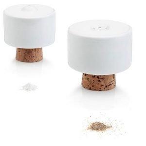 Tonfisk Design SHAKE suola- ja pippurisirottimet valkoinen