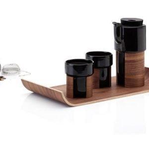 Tonfisk Design WARM-kannu 60 cl 2 mukia ja tarjotin musta